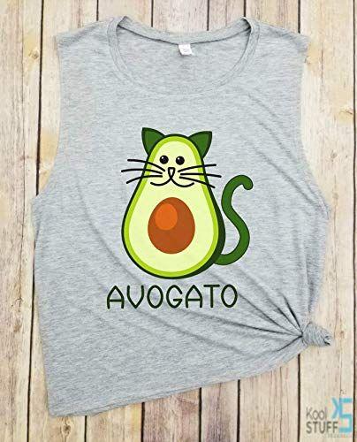 Funny Avocado Tank Avogato Cat Food lover shirt Vegan shirt Cinco de Mayo Cat Lover Shirt Pets Animal Ve arian Keto Paleo Gift Idea