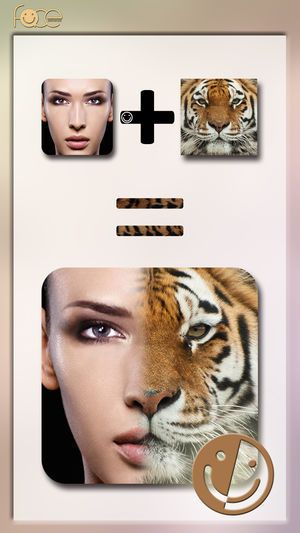 InstaFace face eyes blend morph with animal effect 4