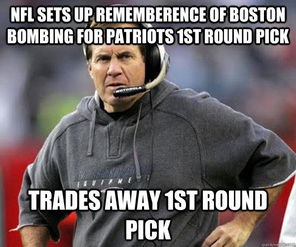NFL sets up rememberence of Boston Bombing For Patriots 1st Round Pick Trades Away 1st Round Pick