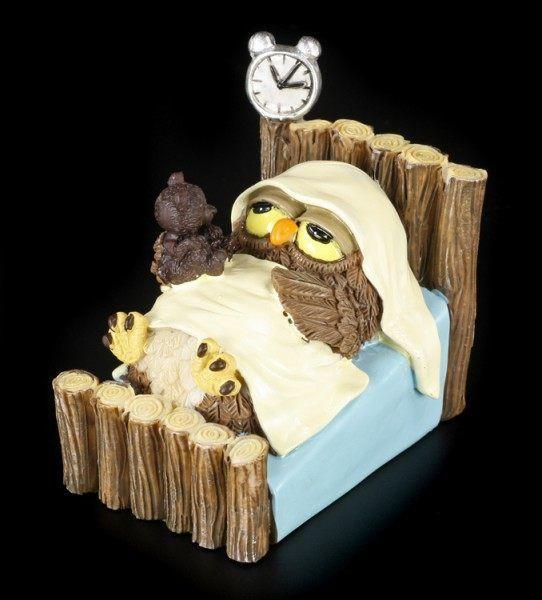 Good Night Funny Owl Figurine