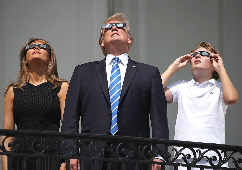 Donald Trump Melania Trump Barron Trump Eclipse