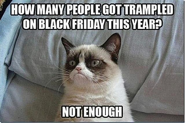 Grumpy Cat black Friday