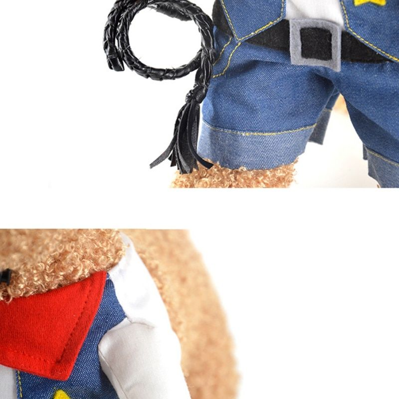 Funny Pet Dog Police Costume Dog Cat Costume Clothes Coats Apparel Doctor Policeman Cowboy Jackets in Dog Coats & Jackets from Home & Garden on