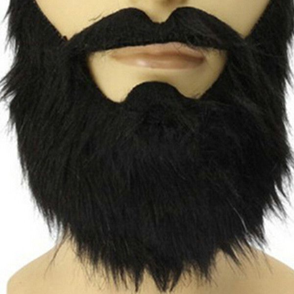 Fashion Funny Costume carnivals Halloween Party Mask Male Man Halloween Beard Facial Hair Disguise Game Black Fake Mustache