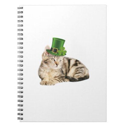 St Patrick s Day Cat Funny Cute Notebook cat cats kitten kitty pet love