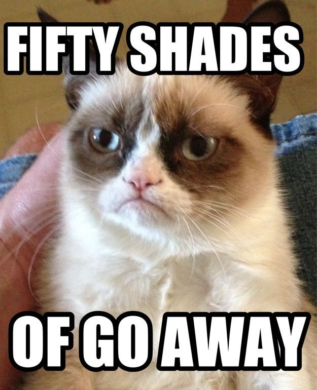 Grumpy cat s Fifty Shades of Go Away is the only acceptable Fifty Shades Grumpy Cat meme Anti Fifty Shades of Grey