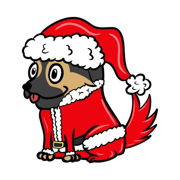 Funny Bernese Mountain Dog Cute Santa Claus Costume Christmas