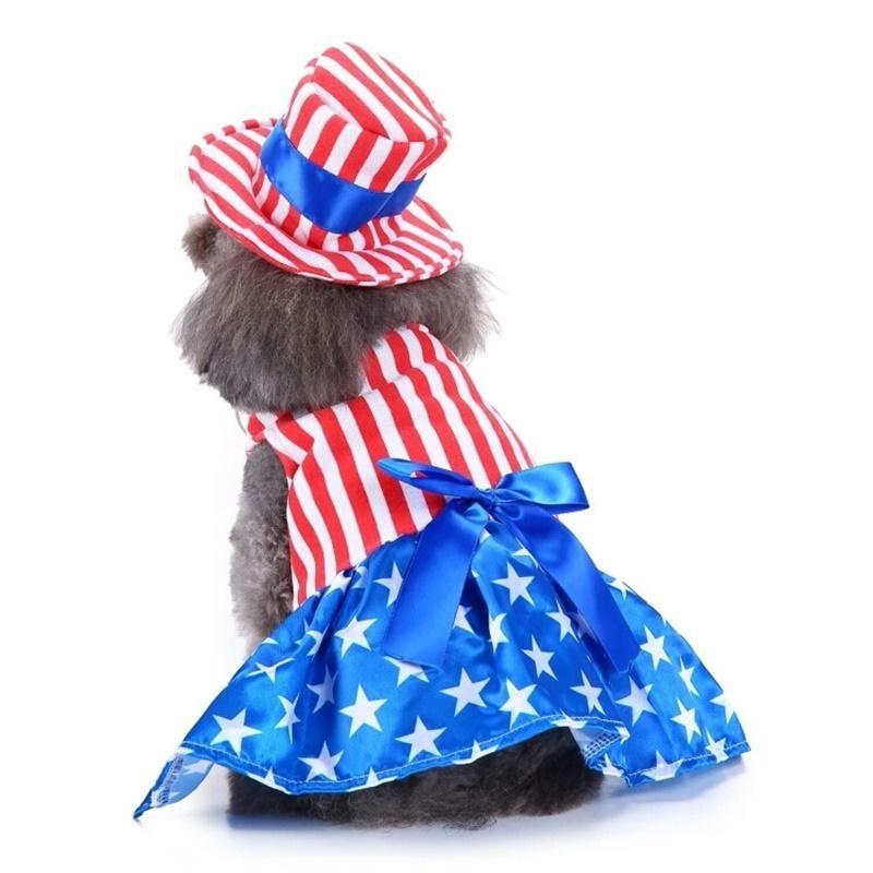 2019 Christmas Dog Clothes Costumes American Flag Dog Dress Funny Pet Clothes Christmas Dog Clothes From Joyset $12 65