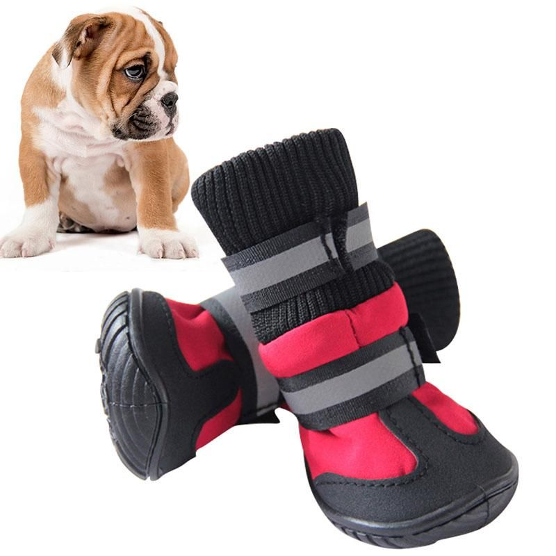 Hot Sale Shoes For Dogs High Waist Portable Boots Cotton Waterproof Boots Non slip Rubber Sole Dog Shoes for Dog Puppy Dog Boot Dog Supplies Dog