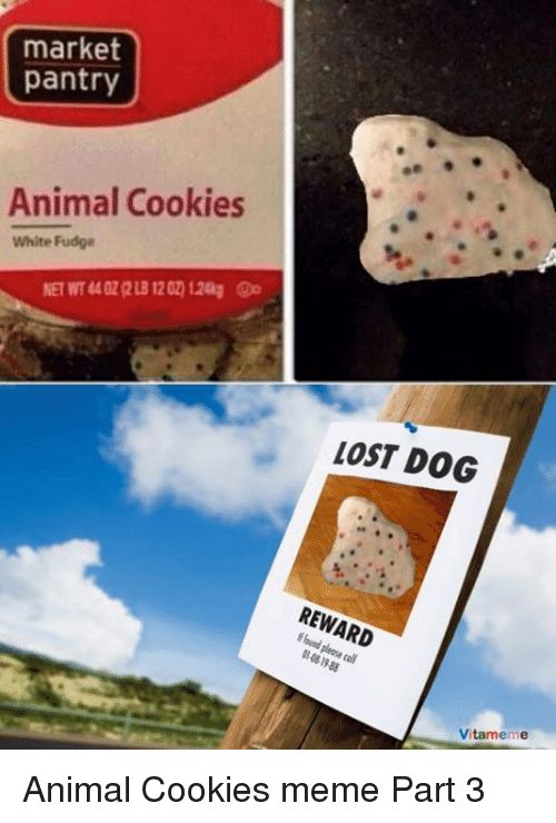 Animals Anime and Cookies market pantry Animal Cookies White Fudge LOST DOG Vitameme