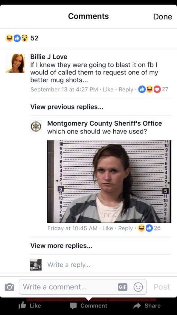 woman asks police to use better mugshot department delivers 21 Woman asks Sheriffs Dept to