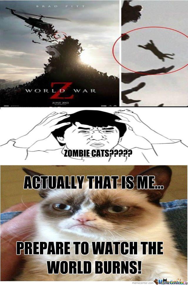 Grumpy Cat In The Movie World War Z
