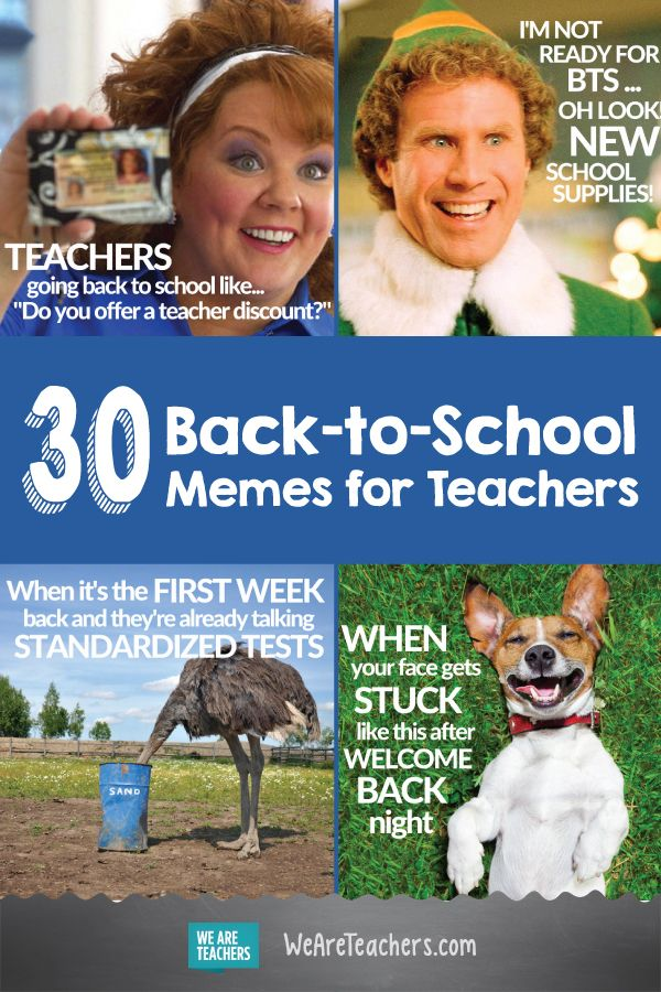 "30 Back to School Memes for Teachers That Will Have You Saying ""Same"