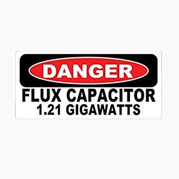 1 Set Amusing Danger Flux Capacitor 1 21 Gigawatts Car Sticker Vinyl Wall Art Stickers Decals Ideal Popular Funny Wolf Fox Jesus Peace Love Life Family Baby