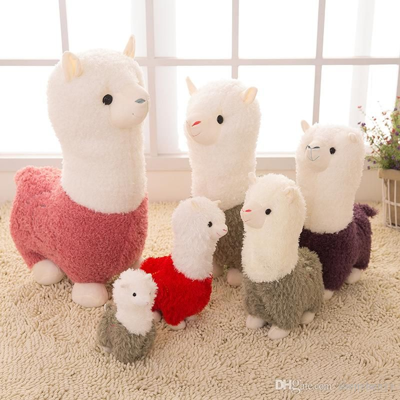 2019 Kawaii Rainbow Alpaca Plush Doll Toys Cute Llama Alpacasso Stuffed Toys Japanese Stuffed Animals Doll Children Kids Gift OTH893 From Shenzhen11