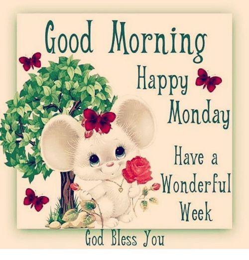 Blessed God and Memes Good Mornin appy Monday Have a Wonderful Week God