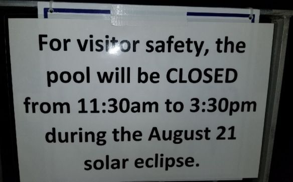 pool closed due to eclipse