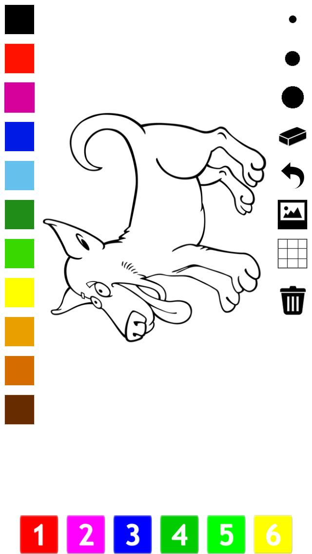 Screenshot 7 for Dog Coloring Book for Little Children Learn to draw and color