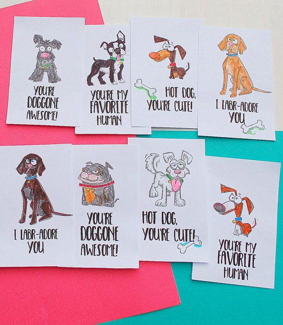 Kids Lunchbox Notes Dog Lunchbox Notes Back to School Lunchbox Cards Kids Encouragement Cards L
