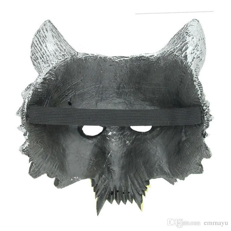 2019 Fun Animal Full Face Wolf Masks For Kids Adult Halloween Masquerade Party Masks Costume Wolves Ball From Emmayu $9 95