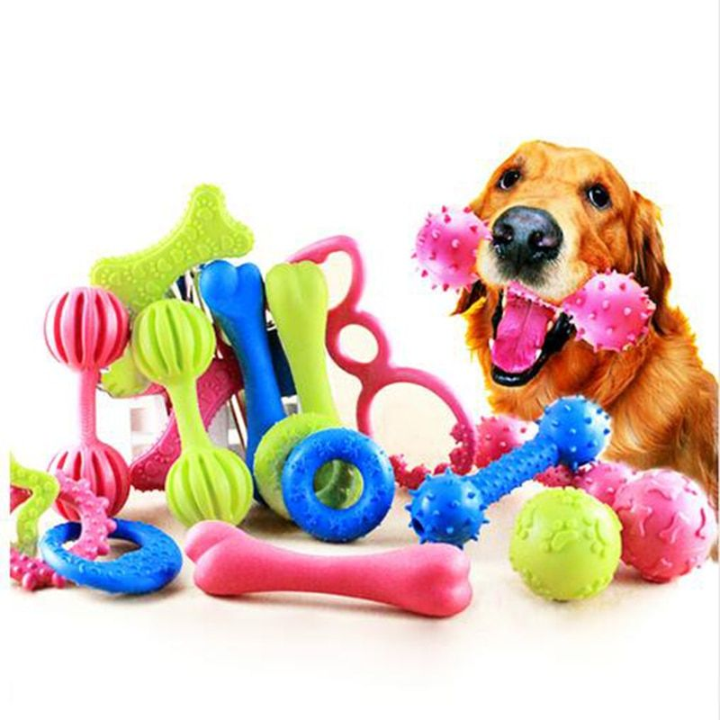 18 Style Pet Dog Toy Chew Squeaky Rubber Toys Non toxic Rubber Toy Funny Nipple