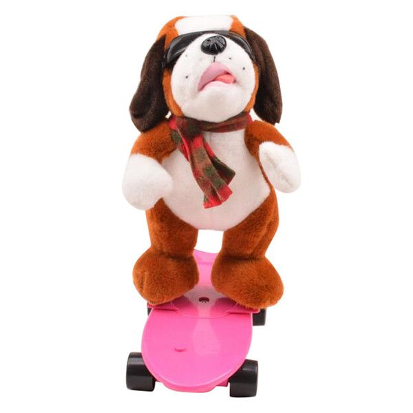 Funny Electronic Pets Cool Skateboard Dogs Horse Singing Dancing Electric Plush Dolls Lovely Stuffed Animals