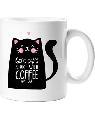 Funny coffee mug drinking cup morning breakfast drink Good days start with coffee and a