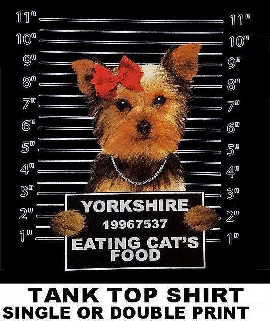 VERY COOL YORKSHIRE TERRIER MUG SHOT FUNNY DOG ART TANK TOP SHIRT WS787 Denim Clothes Camiseta T Shirt Cattt Windbreaker Pug Tshirt Awesome T Shirts For
