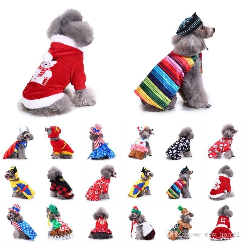 Pet Dog Clothes For Small Dogs Winter Christmas Halloween Clothes Warm Cat Coat Jacket Pumpkin Wizard Transform Funny Costume Christmas Clothes Dog