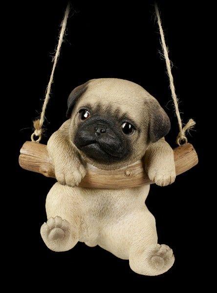 Hanging Dog Figurine Pug Puppy