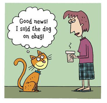 Cat toon by Scott Nickel