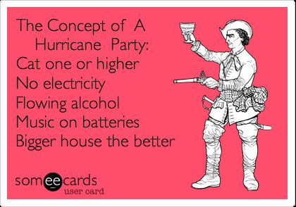 The Concept of A Hurricane Party Cat one or higher No electricity Flowing alcohol Music