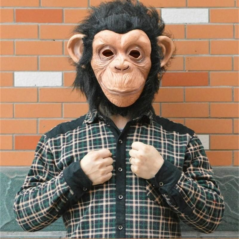 Fun Big Ear Monkey Mask King Kong Chimpanzee Animal Party Full Face Masks Realistic Silicone Cosplay Props 34 65fq Ww Cute Masks For Masquerade Dark