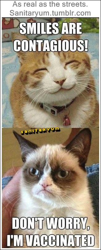 I m vaccinated – Grumpy Cat Sanitaryum CLEAN HUMOR