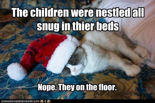 crumpy cat christmas tardar sauce floor captions santa Cats hat