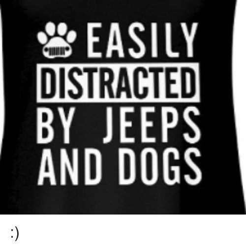 Dogs Jeeps and Distracted EASILY DISTRACTED BY JEEPS AND DOGS