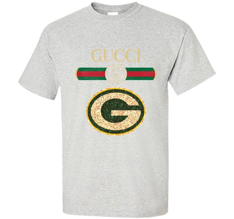 Gucci Green Bay Packers Logo Ash Men s T shirt