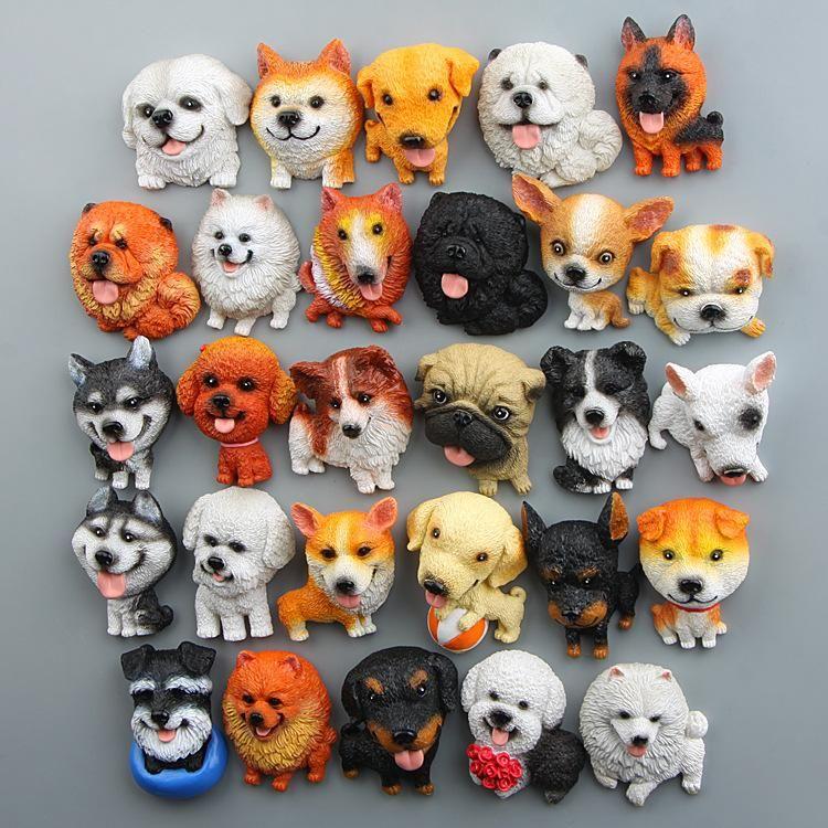 2019 FOURETAW Cute World Famous Dogs Husky Shepherd Akita Cartoon Kids Education Fridge Magnets Souvenir Blackboard Magnetic Stickers From Gor2don