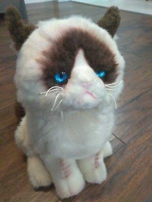 """GUND Grumpy Cat Meme Stuffed Animal Plush Doll Toy 9"""" Siamese funny internet mad"""