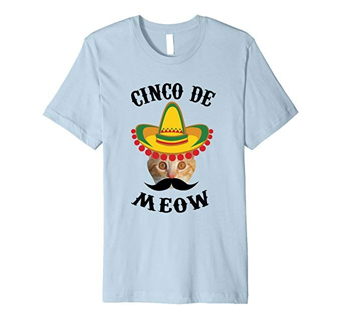 Men s Cinco de Meow Cinco de Mayo Funny Cat Fitted T Shirt 2XL