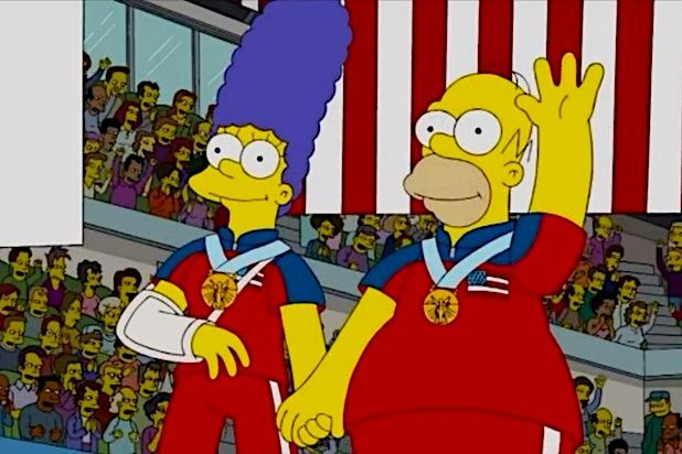 """The Simpsons Olympic Gold Medal Curling """""""