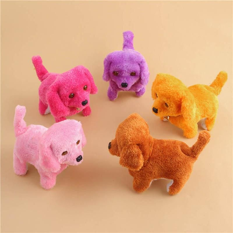 Cute Walking Barking Toy Funny Electric Short Floss Electric Moving Dog Children Kids Toys YH 17 Electronic Dogs Toys Toy Electronic Dog From Iraem