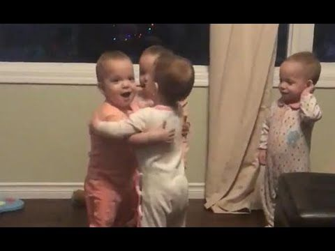 These affectionate quadruplets love hugging
