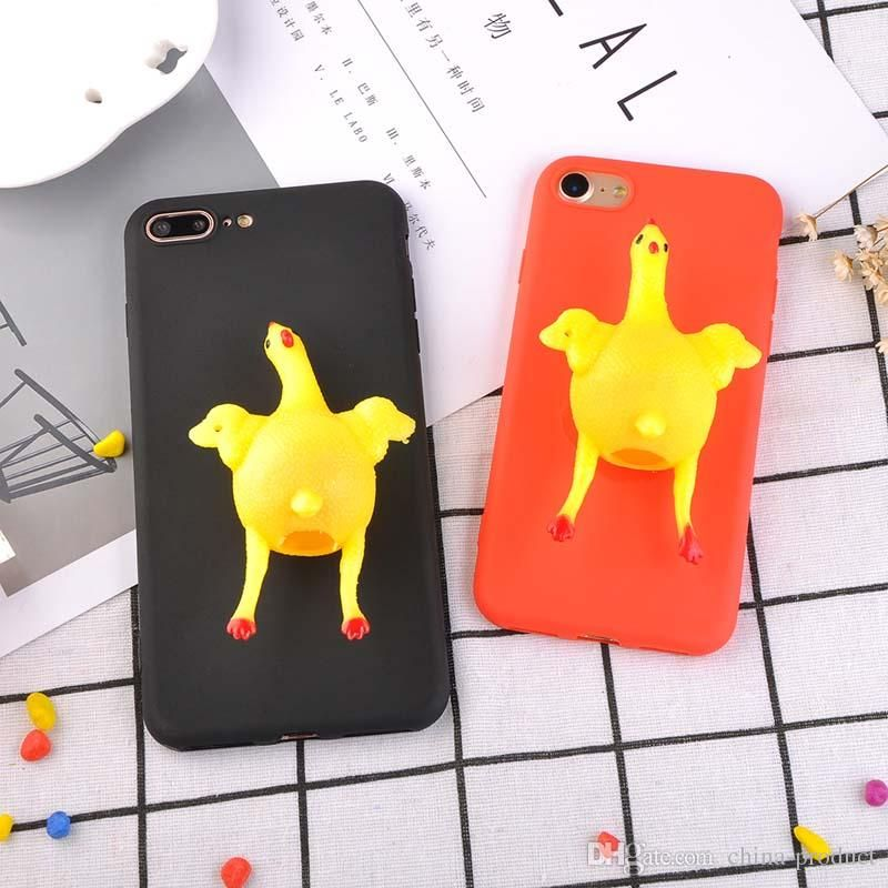 New Funny 3D Cartoon Animal Soft Phone Cases For Iphone X 7 6 Plus TPU Vent Toy Lay Egg Hen Chicken Cover Wallet Cell Phone Case Ballistic Cell Phone Case