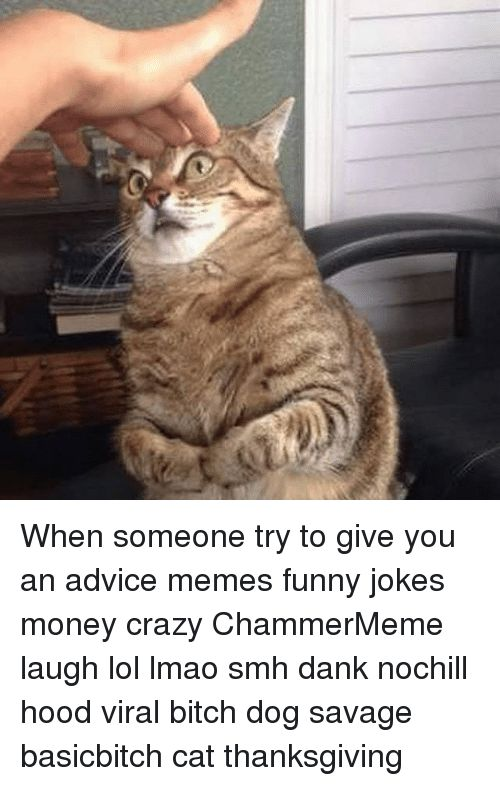 Advice Funny Jokes and Memes When someone try to give you an advice
