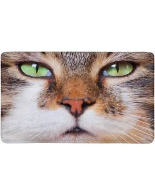 MKHERT Close Up of Tabby Cat s Face Funny Animal Doormat Rug Home Decor Floor Mat Bath