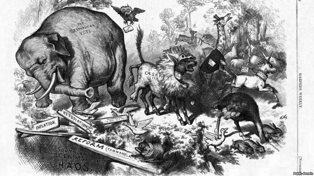 """The Third Term Panic "" by Thomas Nast was originally published in """