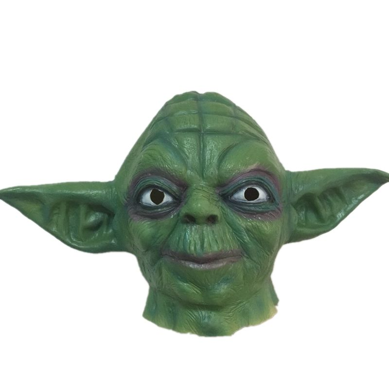 Horror Master Yoda Latex Mask Full Face Halloween Movie Star Wars Masks Green Masquerade Costume Party