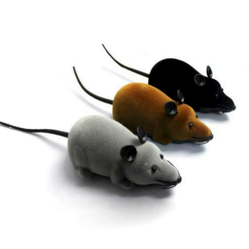 Novelty Funny RC Wireless Remote Control Rat Mouse Toy For Cat Dog Pet