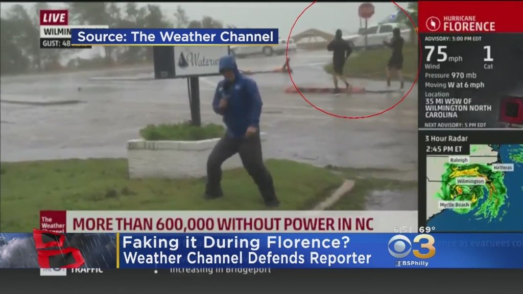 Hurricane lesson No 1 Laugh at The Weather Channel